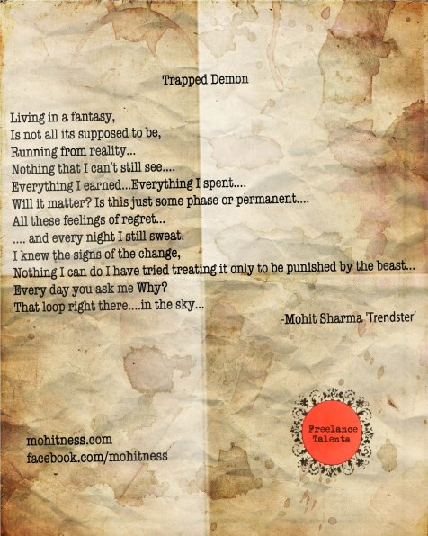 Trapped Demon_Mohit Shrama_Poetry_Template